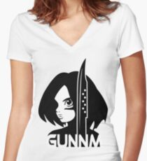 Gunnm Women's Fitted V-Neck T-Shirt