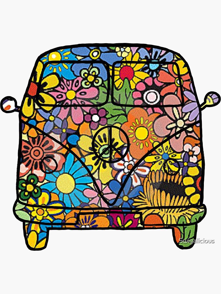 VW Blumen Van von Swigalicious