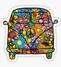 VW Flower Van Sticker