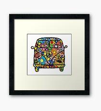 VW Flower Van Framed Print