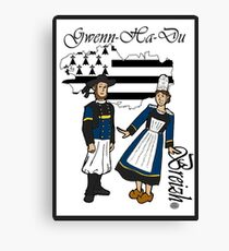 Breton Couple #1 -v.2 Canvas Print