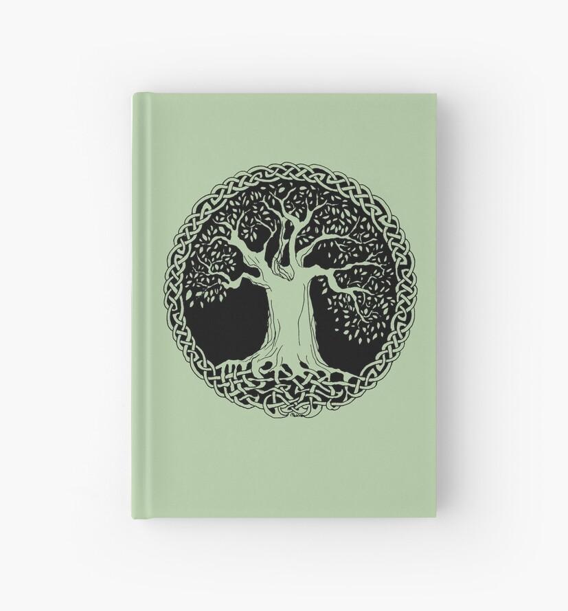 Celtic Wisdom Tree (Black version) by IceFaerie