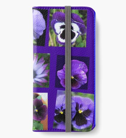 All Blues - Summer Flowers Collage iPhone Flip-Case