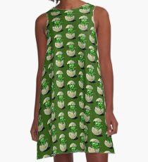 Baby Green Dinosaur A-Line Dress