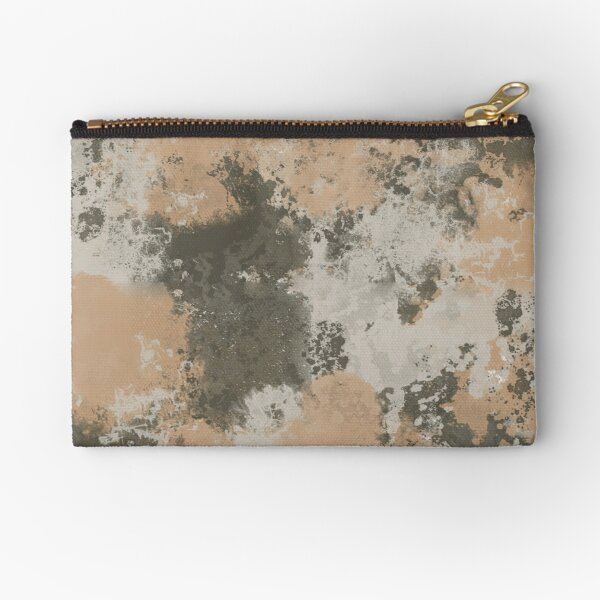 Abstract Mud Puddle Zipper Pouch
