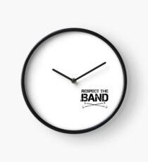 Respect The Band - Majorette (Black Lettering) Clock