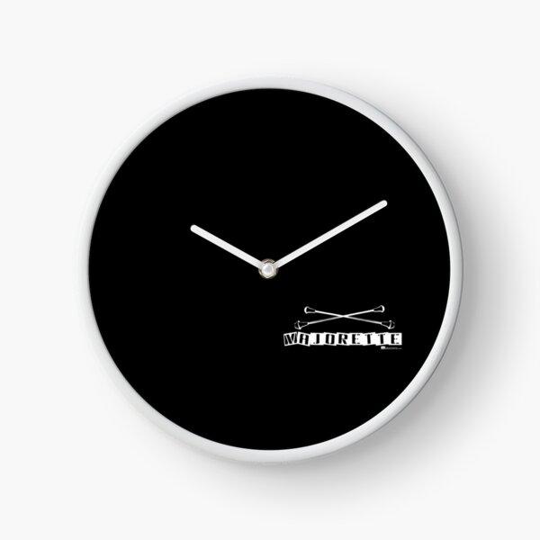 Label Me A Majorette (White Lettering) Clock