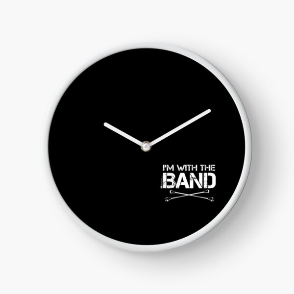 I'm With The Band - Majorette (White Lettering) Clock