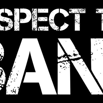 Respect The Band (White Lettering) by RedLabelShirts