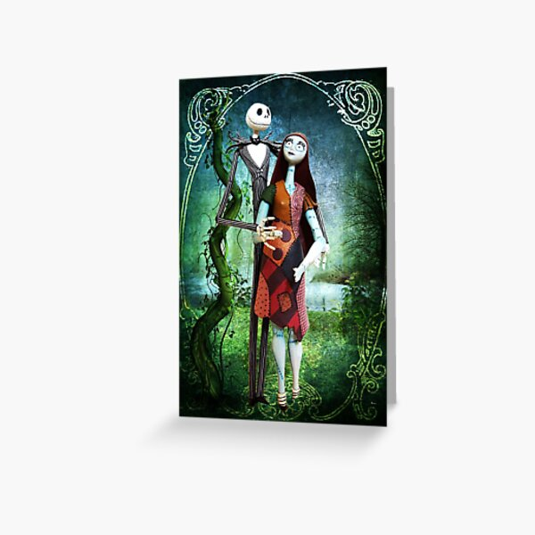 JACK AND SALLY A STRANGE AND WONDERFUL LOVE Greeting Card
