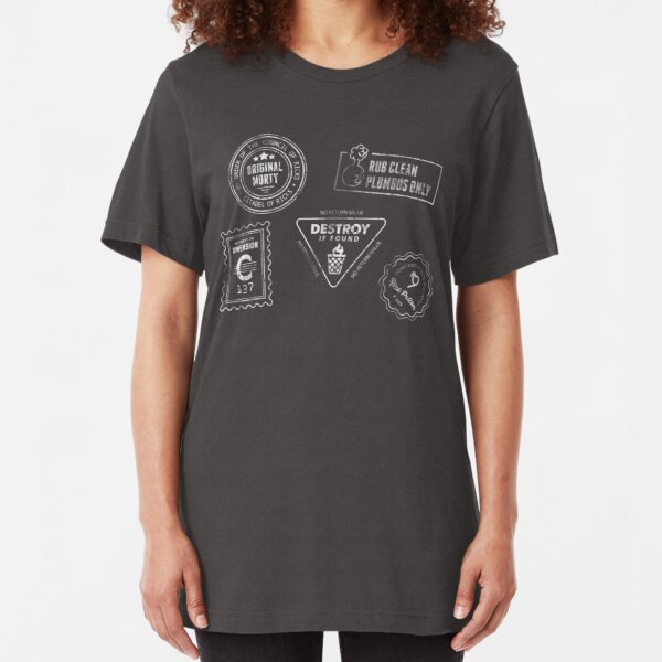 Genuine Morty [White Ink] Slim Fit T-Shirt