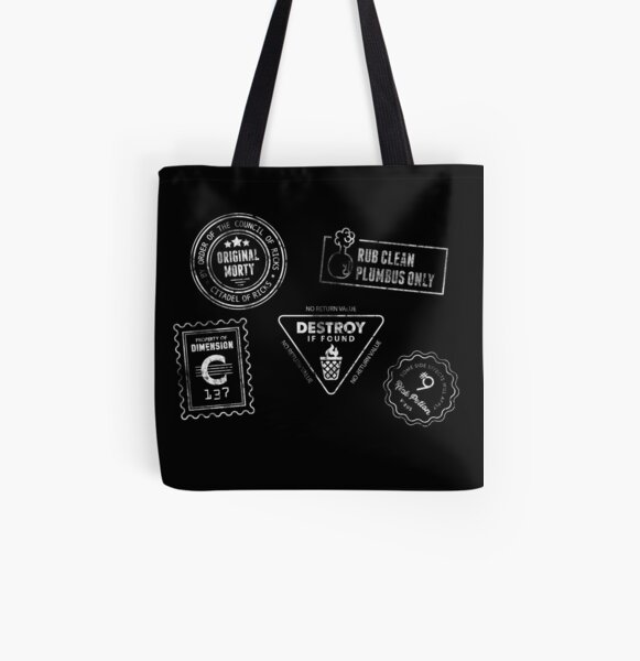 Genuine Morty [White Ink] All Over Print Tote Bag