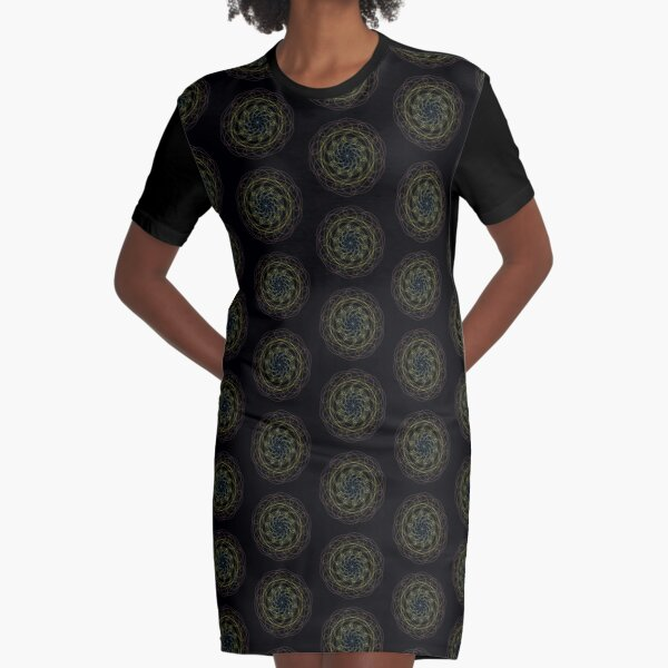 Pansexual Pride Spirograph Graphic T-Shirt Dress