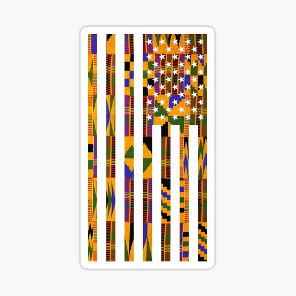 African American  Flag Sticker