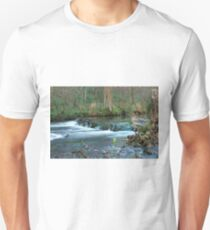 Woodland Weir, Dovedale Unisex T-Shirt