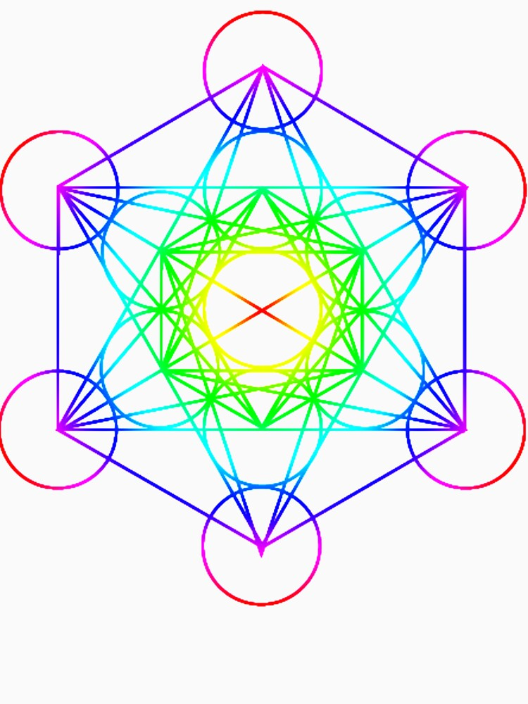 201fb1fa301c Vibrant Metatron's Cube Sacred Geometry   Women's Relaxed Fit T-Shirt