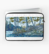 Blue Algonquin Rocks Landscape Laptop Sleeve