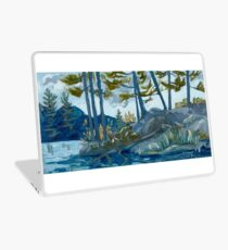 Blue Algonquin Rocks Landscape Laptop Skin