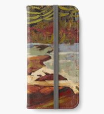 Red Rocks in Algonquin Park iPhone Wallet/Case/Skin