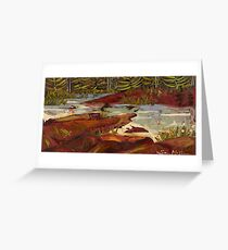 Red Rocks in Algonquin Park Greeting Card