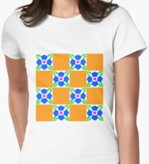 Talavera tiles 11. Womens Fitted T-Shirt