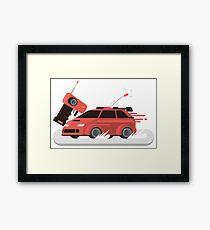 Red Remote Control Race Car Framed Print
