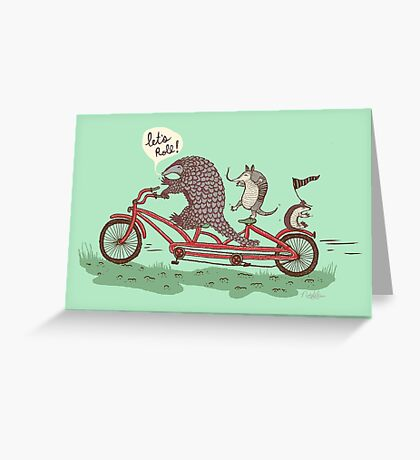 ROLLIN' PANGOLINS Greeting Card