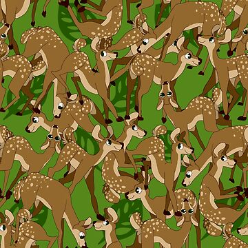 Green Fawn Pattern  by Tigerparadise