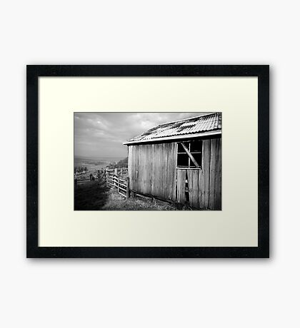 empty view Framed Print