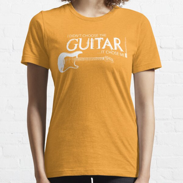 I Didn't Choose The Electric Guitar (White Lettering) Essential T-Shirt
