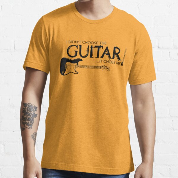 I Didn't Choose The Electric Guitar (Black Lettering) Essential T-Shirt