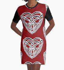 Celtic Heart Graphic T-Shirt Dress