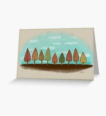 COLORFUL GROVE Greeting Card