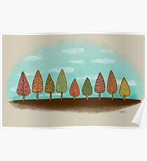 COLORFUL GROVE Poster