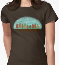 COLORFUL GROVE Womens Fitted T-Shirt