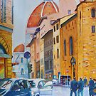 Florence - Going to the Duomo by Christiane  Kingsley