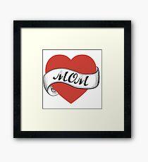 love mom Framed Print
