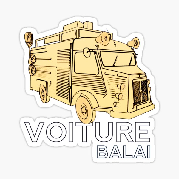 Voiture Balai Sticker