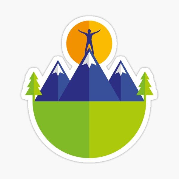Reach the peak Sticker