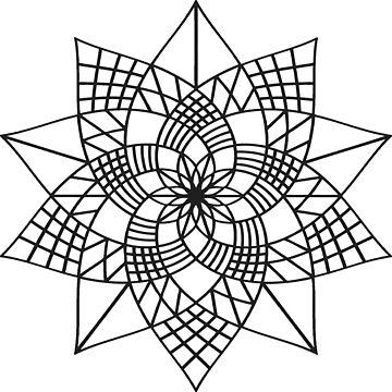 Mandala Flower by JuanBuel