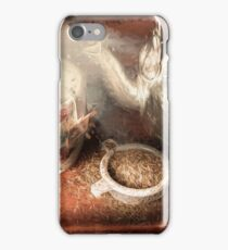 Breakfast in bed at a bed and breakfast iPhone Case/Skin