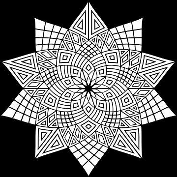 Spiral Flower Mandala by JuanBuel