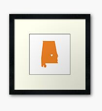 Alabama Love Framed Print