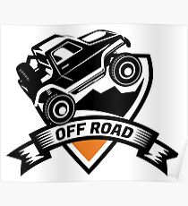Off Road SUV Logo Poster