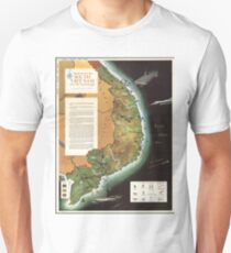 Vintage Map - South Vietnam, 1966 T-Shirt