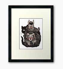 Poncho Monster Framed Print