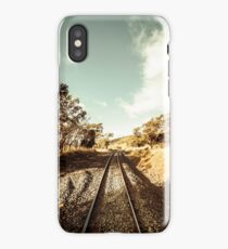 Outback country railway tracks iPhone Case/Skin