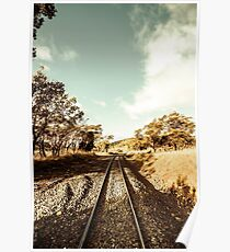 Outback country railway tracks Poster