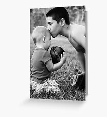 Kisses from big brother Greeting Card