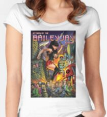 Attack of The Bailey Jay Show  Women's Fitted Scoop T-Shirt